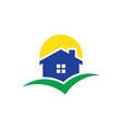home sun building logo vector image