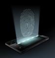Icon fingerprint on the screen vector image