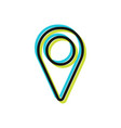 icon of location flat sign and symbol vector image