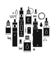 Icons of vape and accessories vector image vector image