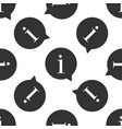 information icon seamless pattern vector image vector image
