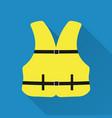 life jacket flat design style modern vector image