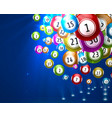 lottery game balls with numbers vector image vector image