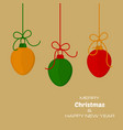 merry christmas and new year yellow background vector image