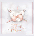 merry christmas card invitation greetings 2019 vector image