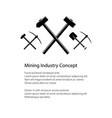mining and construction concept vector image