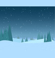 night winter forest vector image vector image