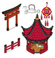 oriental architecture elements outdoors vector image