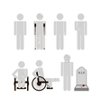 People with disabilities vector image vector image