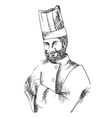 Portrait of a Chef vector image vector image
