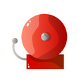 red steel fire alarm flat icon isolated on white vector image