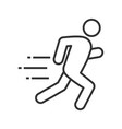 running man linear icon vector image vector image