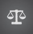 scales sketch logo doodle icon vector image