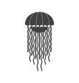 sea jellyfish icon vector image vector image