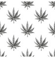 seamless pattern with hemp sketch vintage vector image