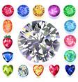 set colored gems vector image