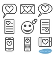 set love message icons vector image vector image