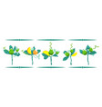 set of bouquets of fruits and leaves isolated on vector image vector image