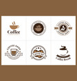 set of coffee logo and label vector image