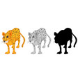 set of leopard character vector image