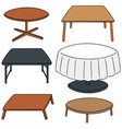 set of table vector image vector image