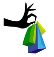 shopping hand vector image vector image