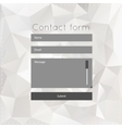 Simple contact us form templates vector image