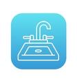 Sink line icon vector image