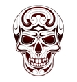Skull head tattoo vector image vector image