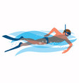 snorkeling man vector image