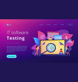 software testing it concept vector image vector image