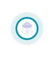 space ship space ship rocket alien glyph icon vector image