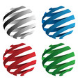 spiral ribbon sphere 3d vector image