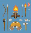 stone age aboriginal primeval historic vector image