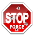 Stop force vector image vector image