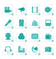 stylized audio and video icons vector image vector image