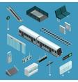 Subway Isometric Elements vector image