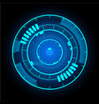 technological communication glowing interface vector image vector image