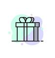 thin line gift box logo like bonus vector image
