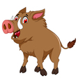 wild boar cartoon for you design vector image