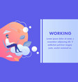 working late corporate lifestyle banner template vector image vector image