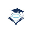 world education logo design template vector image vector image