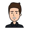 young man model avatar character vector image
