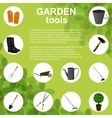 Set of various gardening items vector image