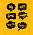funny bright rough speech bubbles set on vector image