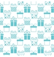Seamless background of presents boxes vector image