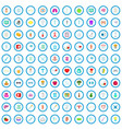 100 healthcare icons set cartoon style vector image vector image