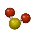 a molecule of sulfur dioxide vector image