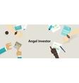 angel investor money fund management startup vector image