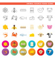 animal source food icons vector image vector image